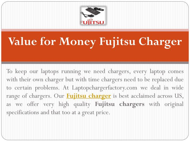 value for money fujitsu charger n.