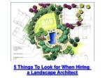 5 Things to Look for When Hiring a Landscape Architect