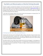 Top Myths and Misconceptions of Alcohol Drinking Revealed