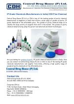 Grades of Purity, IP Grade Chemicals Manufacturers India