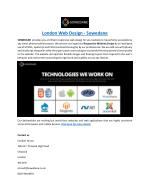 London Web Design - Sowedane