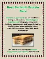 Best Bariatric Protein Bars
