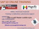 SAP SD ONLINE TRAINING IN GERMANY|THAILAND