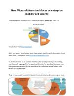 New Microsoft Azure tools focus on enterprise mobility and security