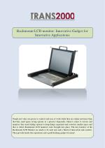 Rackmount LCD monitor: Innovative Gadget for Innovative Applications