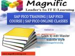 SAP FICO ONLINE TRAINING IN USA|UK
