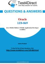 Oracle 1Z0-869 Test Questions