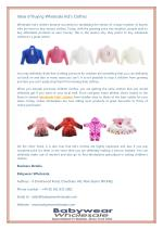 Ideas Of Buying Wholesale Kid's Clothes