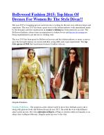 Bollywood Fashion 2015: Top Ideas Of Dresses For Women By The Style Divas!!