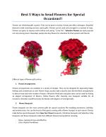 Best 5 Ways to Send Flowers for Special Occasions!!