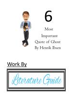 6 Most Important Quotes Of Ghost By Henrik Ibsen