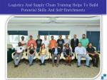Logistics And Supply Chain Training Helps To Build Potential Skills And Self-Enrichments