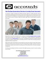Get The Best Accountancy Services In London From Jraccounts