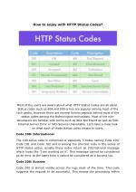 How to enjoy with HTTP Status Codes