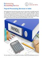Payroll Processing & Outsourcing Bookkeeping Services in India