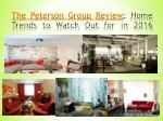 The Peterson Group Review: Home Trends to Watch Out for in 2016