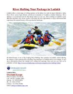 River Rafting Tour Package in Ladakh
