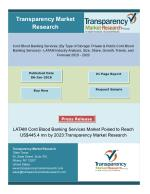 Cord Blood Banking Services Market Segments And Forecast