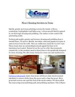 Floor Cleaning Services‎ in Texas