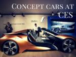 Concept cars at CES