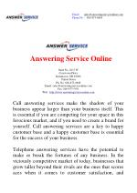 All you Need to Know About Call Answering Services