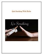 Quit Smoking With Herbs