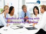 Benefits of Promoting with Conference Alerts Online
