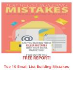 Top 10 Email List Building Mistakes To Avoid Immediately