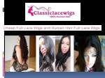 Human Hair Full Lace Wigs Available in Different Textures