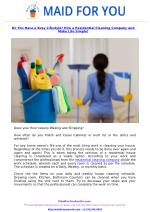 Do You Have a Busy Lifestyle? Hire a Residential Cleaning Company and Make Life Simple