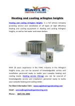 Heating and cooling arlington heights