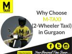 Why Choose M-TAXI (2-Wheeler Taxi) in Gurgaon?