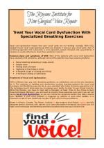 Treat Your Vocal Cord Dysfunction With Specialized Breathing Exercises