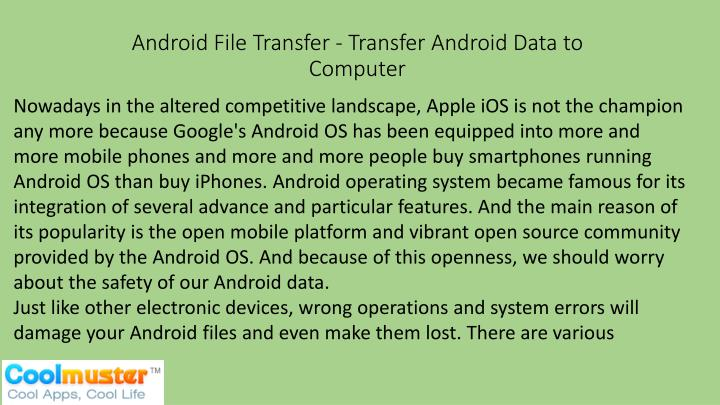 android file transfer transfer android data to computer n.