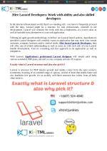 Hire Laravel Developers: Work with ability and also skilled developers
