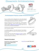 Dazzling Engagement Ring Styles Available At Diamonds International