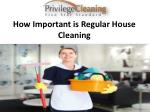 How Important is Regular House Cleaning