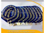 Masonic Blue Lodge officer chain collar with jewels