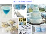 Ideas for Bridal Shower
