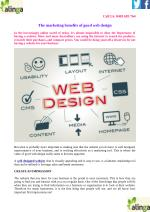 The marketing benefits of good web design
