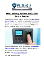 POGO Security Systems For Access Control Systems
