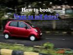 Affordable Nano on self drive - Voler cars