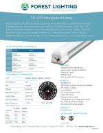 T8 LED Integrated Lamp By Forest Lighting USA