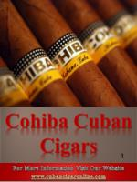Cohiba Cuban Cigars