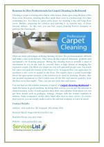 Reasons to Hire Professionals for Carpet Cleaning In Redmond