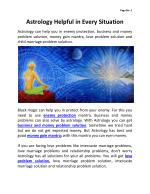 Astrology Helps in Every Situation