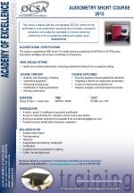 AUDIOMETRY SHORT COURSE 2013
