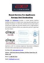 Based Service For AppEnsure Xenapp And Xendesktop