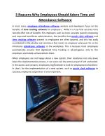 3 Reasons Why Employees Should Adore Time and Attendance Software
