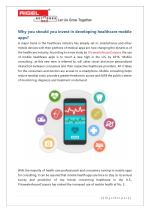 Why you should you invest in developing healthcare mobile apps